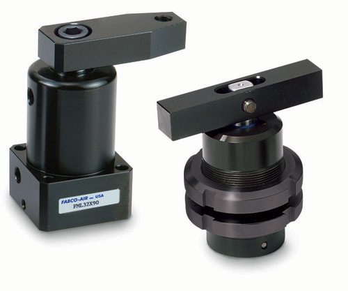Fabco air pneumatic hydraulic swing clamp cylinders